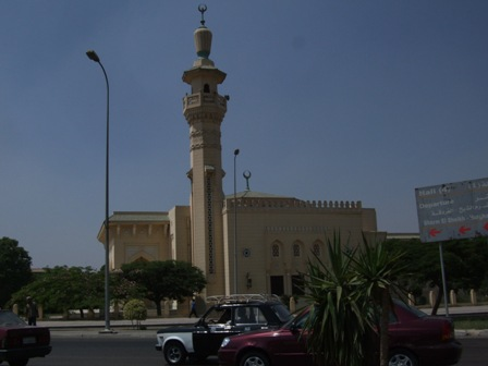 This Mosque is just outside Cairo International Airport