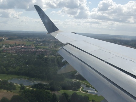 Flying over Poland's green plains from Warsaw to Gdansk