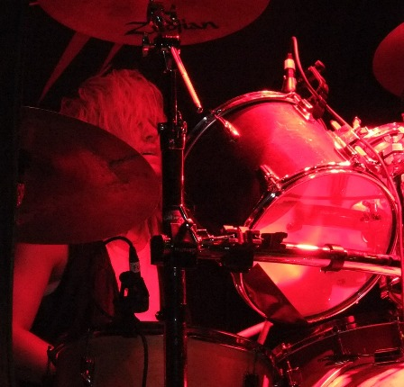 Jonas Wikstrand on drums with Enforcer live in Essen