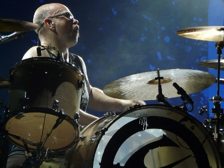 Ian Haugland on drums with Europe