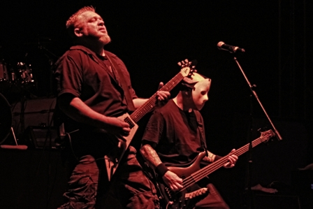 Ray Mensh and T. Schiavo on bass with Exumer