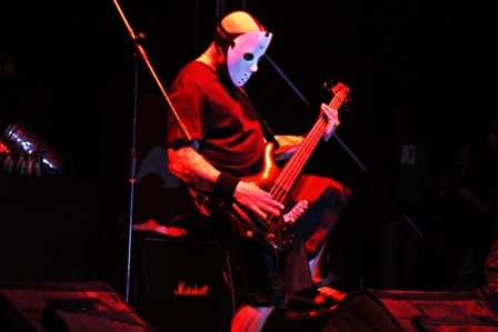 T. Schiavo on bass with Exumer
