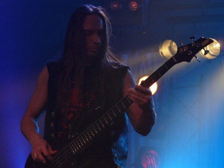 Dirk Schlächter with Gamma Ray on stage