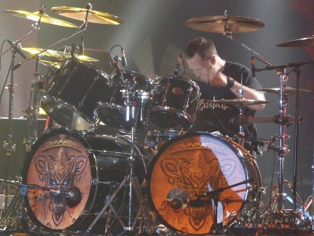 Dan Zimmerman on drums with Gamma Ray