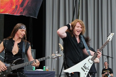 Dirk Schlächter and Kai Hansen from Gamma Ray