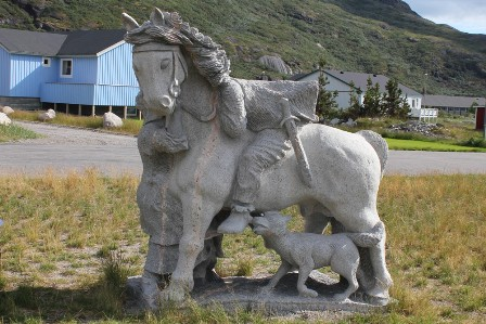 Monument to Erik The Red in Narsarsuaq, Greenland
