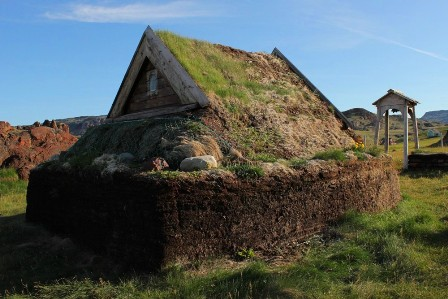 Reconstruction of the Þjóðhildr church at Brattahlíð, Greenland