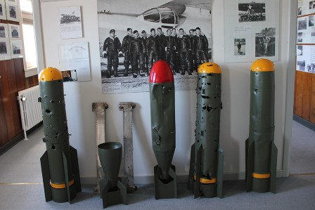 Bombs at the Airport museum in Narsarsuaq, Greenland