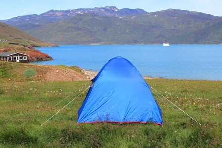 Our tent in Qassiarsuk, Greenland