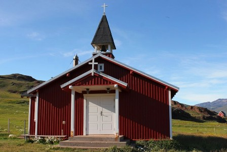 The church of Qassiarsuk in Greenland