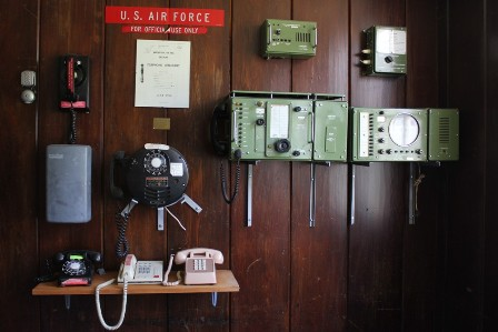 Old Telephones from the U.S. Air Force at the museum in Narsarsuaq, Greenland