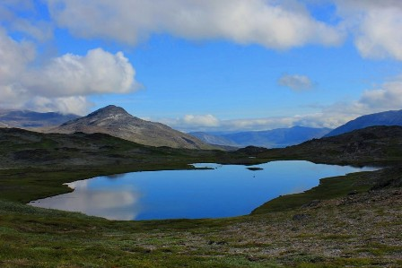 Lakes on top of the Plateau near Igaliko, Greenland