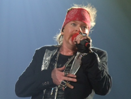 Axl Rose live at Sportpaleis in Antwerpen, Belgium