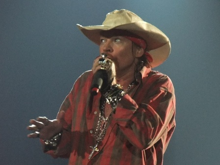 Axl Rose from Guns'n'Roses live in Antwerpen