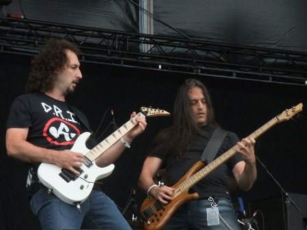 Scott LePage and Kevin Bolembach from Hades live at the Bang Your Head