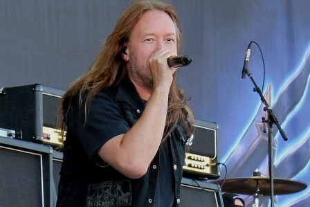 Joacim Cans from Hammerfall at Sonisphere Getafe Open Air in Madrid, Spain