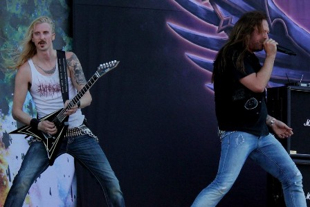 Oscar Dronjak and Joacim Cans - Hammerfall live in Madrid