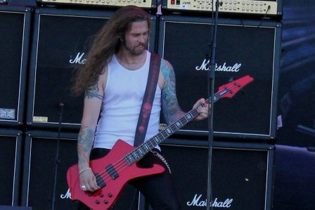 Fredrik Larson live at the Sonisphere Festival in Madrid