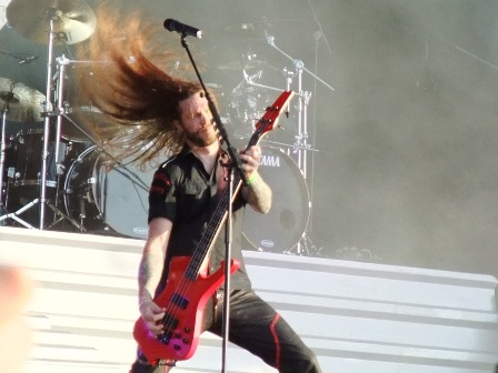 Fredrik Larson with Hammerfall in Wacken