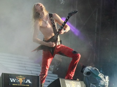 Oscar Dronjak from Hammerfall in Wacken - July 31 2009