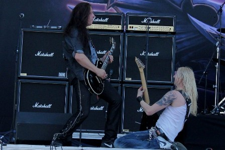 Guitar! Pontus Norgren and Oscar Dronjak - Hammerfall live in Madrid