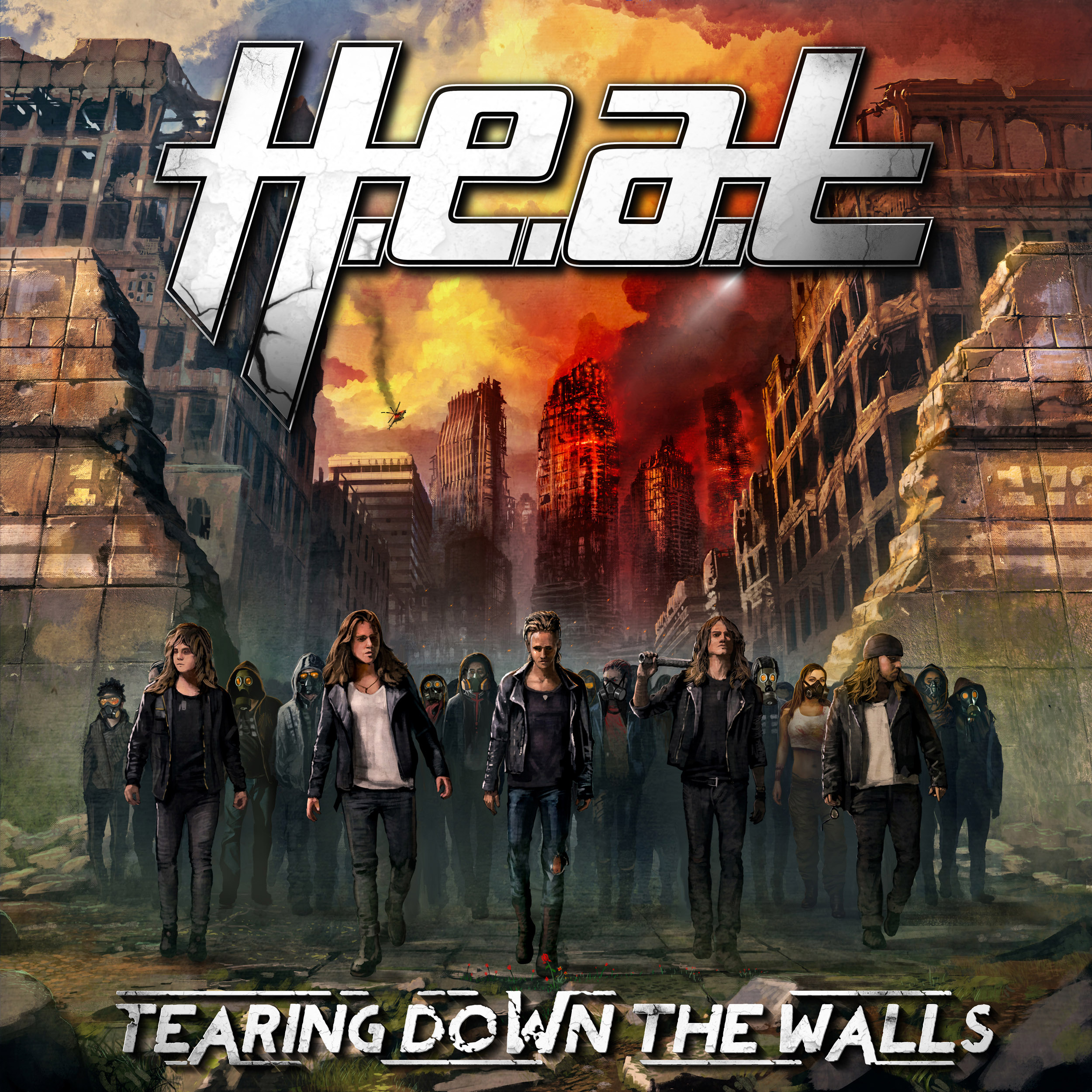 H.E.A.T Tearing Down the Walls album cover