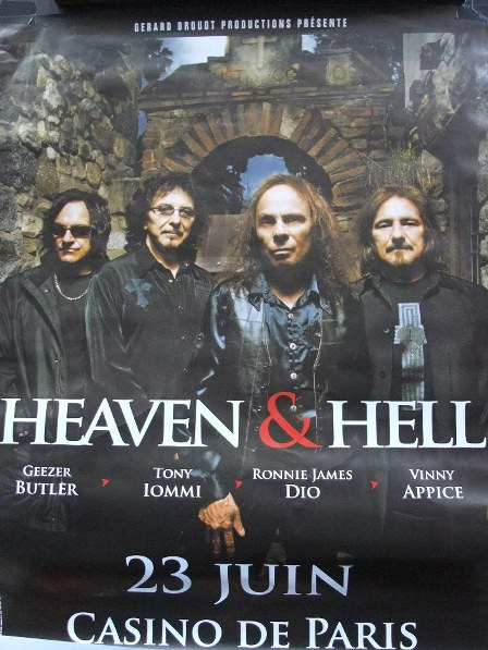 Heaven And Hell concert poster