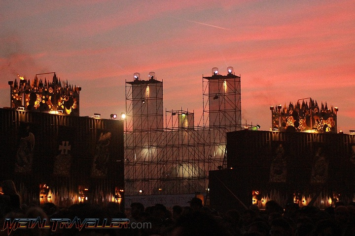 Sunset at the Hellfest Open Air