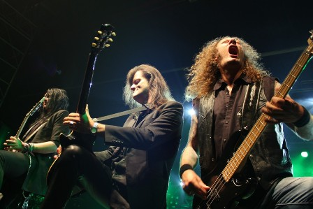 Sascha, Michael and Markus live with Helloween at the Alcatraz Metal Festival Belgium