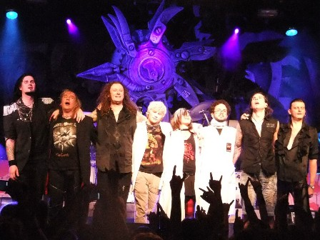 Helloween and the Dr Steins say thanks to Paris!