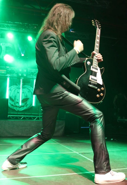 Michael Weikath on stage with Helloween