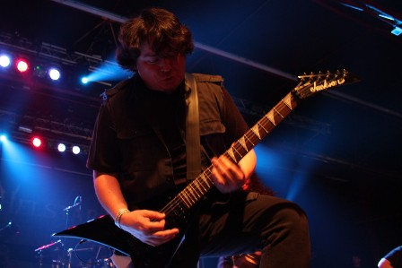 Robert Treviño live with Helstar at the Alcatraz Metal Festival Belgium