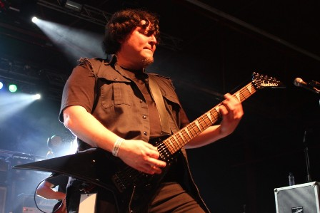 Robert Treviño at the Alcatraz Metal Festival, live with Helstar