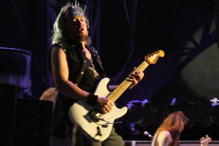 Adrian Smith at the Sonisphere Festival in Madrid