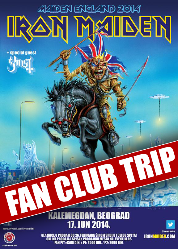 Fan Club Trip Iron Maiden in Serbia