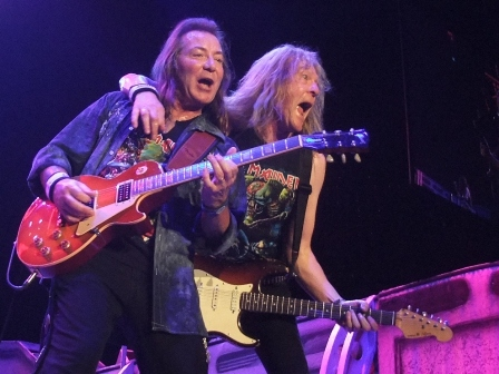 Dave Murray and Janick Gers in Paris