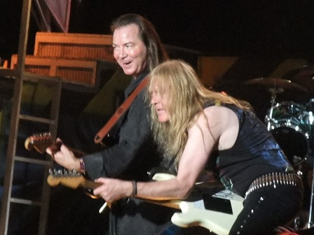 Dave Murray and Janick Gers in Stockholm