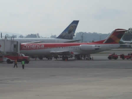 Ed Force One and an Avianca MD83
