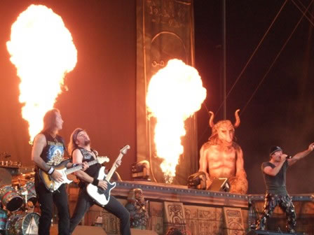 Iron Maiden playing The Number Of The Beast in Oslo, 2008