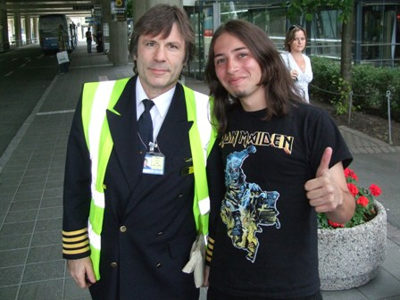 Captain Bruce Dickinson and the Metal Traveller in Trondheim, Norway