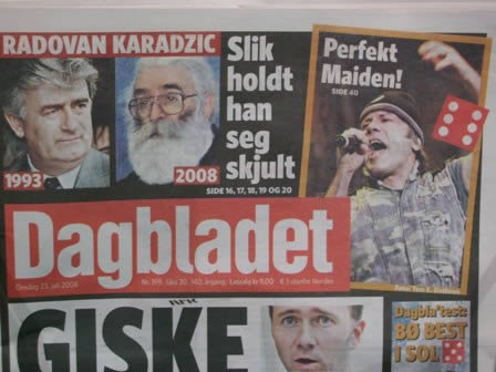 Iron Maiden on the newspaper, the next day. Perfekt Maiden!