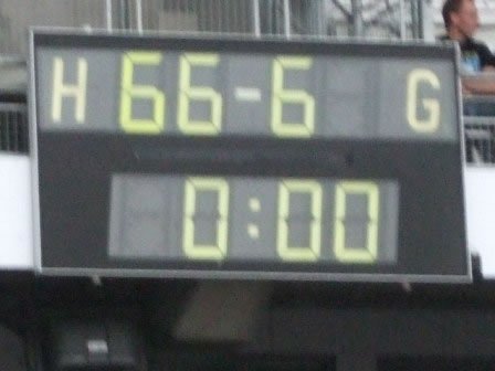Is this the score from the last match played in the stadium??