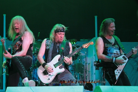 Janick Adrian and Dave - Iron Maiden live in Quebec City