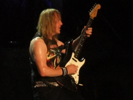Janick Gers from Iron Maiden live in Valencia