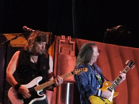 Adrian Smith and Dave Murray live in Colombia