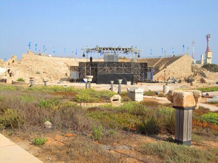The Amphitheater in Caesarea is still in use