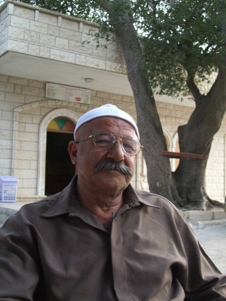 Druze man at Nebi Hazuri's Tomb. Golan Heights, disputed by Israel and Syria