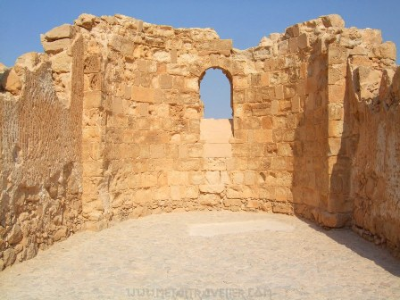 The Byzantine Church ruins at Masada
