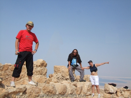 Metal Traveller, Ricardo and Irene up in Masada