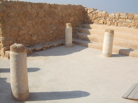 Columns of the Masada synagogue